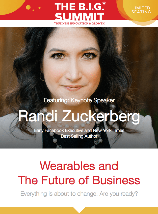 The Big Summit Miami - Virtual Reality Randi Zuckerberg