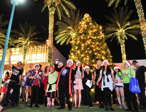 Local Talent Stop Holiday Traffic on Lincoln Road: Making Spirits Bright