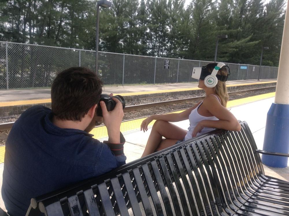 Miami's Jamie Ferguson in a Virtual Reality Model Shoot